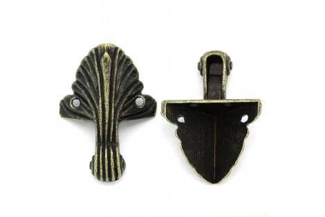 Metalinis kampukas dėžutei, 3.6x1.9cm., 8SB29096