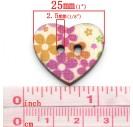 Wood Sewing Buttons Scrapbooking Bird Shape 2 Holes Mixed 26x23mm., 8SB27315