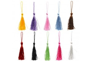 Mixed Color Silky Tassels 13.5cm., 8SB12171