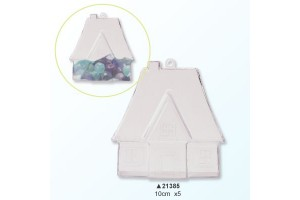 Plastic house 2 parts, 10 cm., V21385