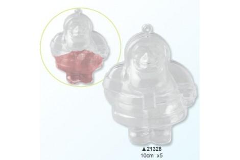 Plastikinis kalėdų senelis, 10 cm., V21328