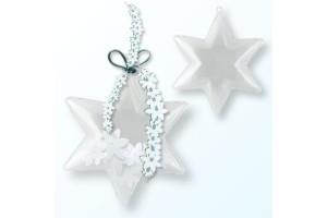 Plastikinė žvaigždutė 10 cm.,  V21205