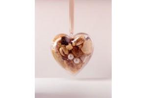 Plastikinė širdelė 8 cm.,  V21370