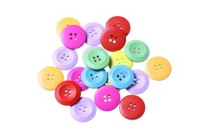 Wood Sewing Buttons Scrapbooking Round 2 Holes Mixed 25mm., 8SB33177