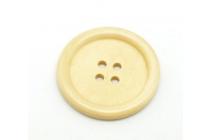 Coffee 4 Holes Wood Sewing Buttons Scrapbooking 30 mm.,8SB18932