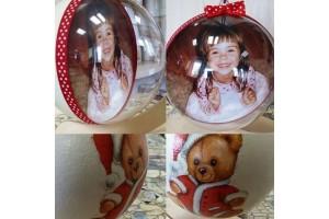 Kalėdinis žaisliukas su nuotrauka 12 cm.