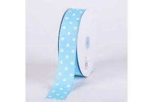 """Pink/White polka dot ribbon """"grosgrain"""", 22mm., 1 metre, 011204"""