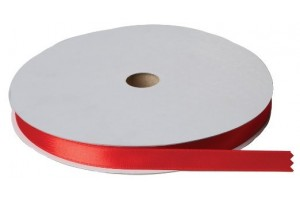 Satininės juostelė 6 mm., raudona