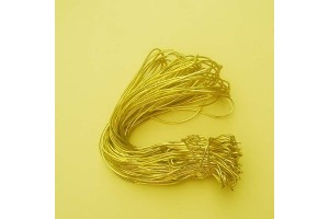 Stretch loop cord, gold 20 cm