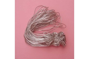 Stretch loop cord, silver 20 cm