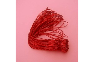 Stretch loop cord, red 20 cm