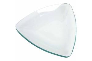 Stiklinė lėkštė trikampė, 13 cm