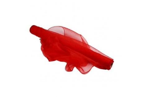 Organza matuojama, 50 cmx 1 m., raudona.