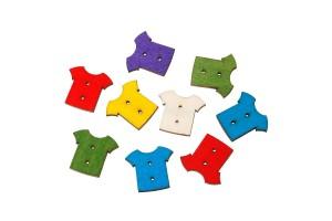 Medinė saga marškinėliai 25x22 mm.