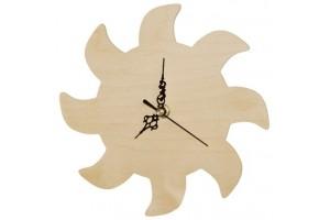 Wooden Clock Sun 1108
