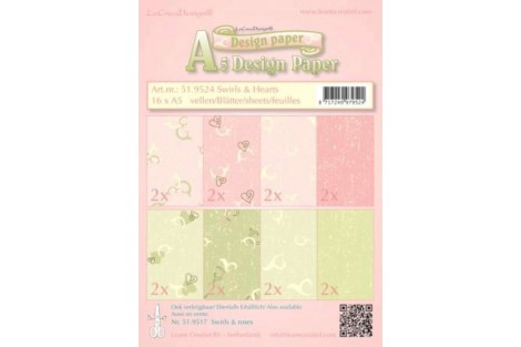 Decorative paper for scrapbooking, A5, 16 pcs.,  519524