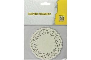 Baltos servetėlės dekoravimui, 10 cm., 12 vnt.