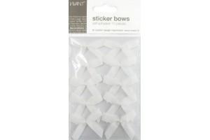 Bows adhesive, white, 10 pcs.