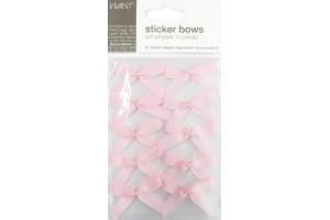 Bows adhesive, rose, 10 pcs.
