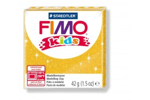 "Polimer clay ""fimo kids"" glitter gold"