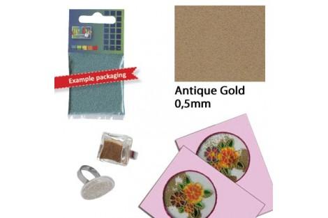 Dekoravimo smulkūs karoliukai, antikiniai auksiniai 25 gr.