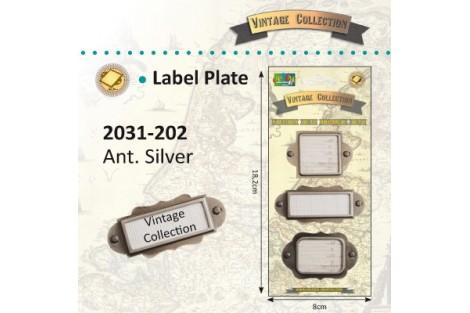 Metalinės etiketės dekorui, skrebinimui 3 vnt.