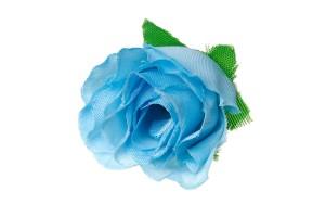 Dirbtinė gėlė žydra  4x3 cm.