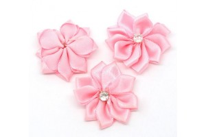 Flower  ribbon rhinestone 30 mm.