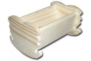 Dekoratyvinė lovytė maža 13x9x7,5 cm. DWZ0630