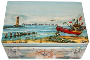 Christening box, 32x21x13,5 cm.