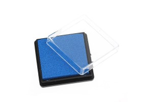 Rubber stamp blue 4x4 cm