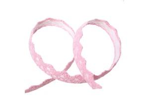 Nėrinys lipdukas rožinė18 mm 1 m