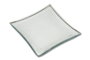Glass plate 10x10 cm. 2833
