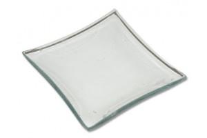 Glass plate 10x10 cm. 2833