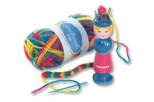 Knitting set with wool 25 gr.