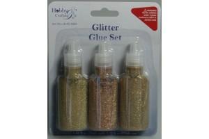 Glitter glue gold 3 pcs.