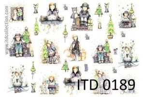 Popierius dekupažui ITD A4 (210x297 mm.) M-0189