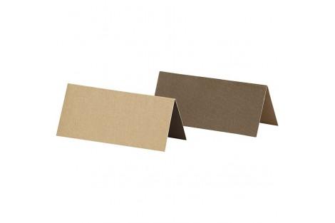 Stalo kortelės dvipusės ruda ar smėlio spalvos 25 vnt.