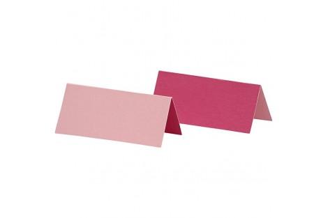 Stalo kortelės dvipusės rožinės spalvos 25 vnt.