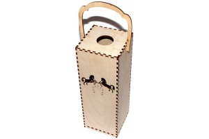 Wine box with ornaments 28,3x10x10 cm. VYN7