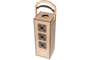 Vyno dėžė su ornamentu 28,3x10x10 cm. VYN10