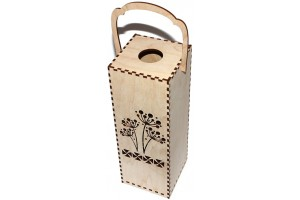 Wine box with ornaments 28,3x10x10 cm. VYN11