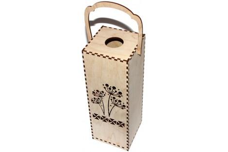 Wine box with ornaments 28,3x10x10 cm. VYN11