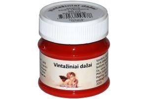 Kreidiniai akriliniai vintažiniai dažai 50 ml. (sodri raudona)