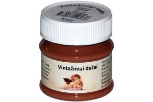 Kreidiniai akriliniai vintažiniai dažai 50 ml. (sepija)