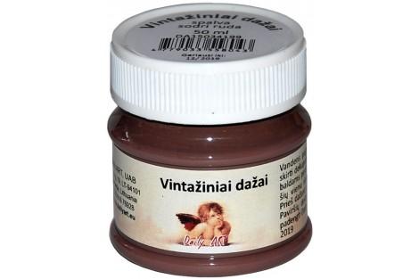 Akriliniai vintažiniai dažai 50 ml. (sepija)