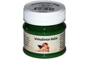 Kreidiniai akriliniai vintažiniai dažai 50 ml. (miško žalia)