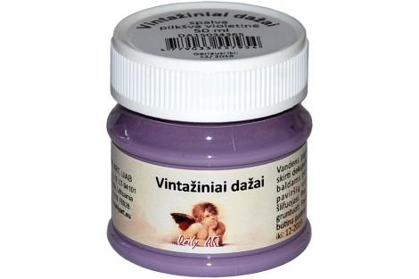 Akriliniai vintažiniai dažai 50 ml. (pastelinė violetinė)