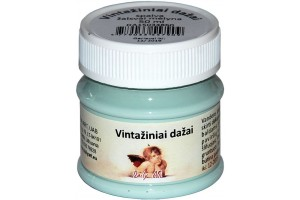 Kreidiniai akriliniai vintažiniai dažai 50 ml. (žalsvai mėlyna)