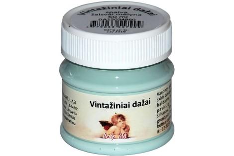 Akriliniai vintažiniai dažai 50 ml. (pastelinė mėlyna)